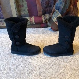 Ugg Australia black triple bailey button warm boot